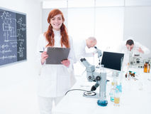 Scientists in a chemistry lab Stock Images