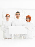 Scientists in chemstry lab Royalty Free Stock Images