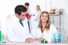 Scientists. Conducting an important experiment Royalty Free Stock Image