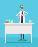 Scientists experiment research in laboratory lab Stock Images