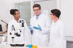 Scientists having a conversation Stock Photography