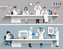 Scientists In Lab Concept stock illustration