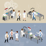 Scientists in lab  with making research Stock Images