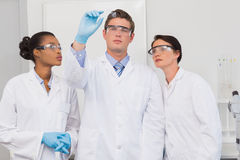 Scientists looking at experimentation Royalty Free Stock Photography