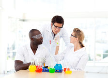 Scientists making experiments Stock Photo