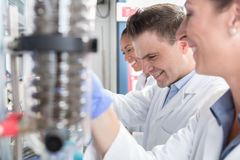 Scientists in research lab analyzing samples Royalty Free Stock Photography