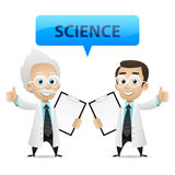 Scientists showing thumb up. Illustration, scientists showing thumb up, format EPS 10 vector illustration