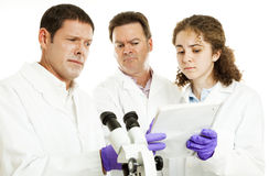 Scientists - Strange Test Results Stock Photo
