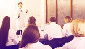 Scientists at training courses Stock Images
