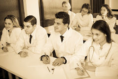 Scientists at training courses Royalty Free Stock Images