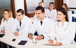 Scientists at training courses Royalty Free Stock Photo