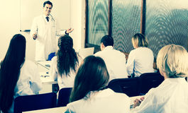 Scientists at training courses Royalty Free Stock Image