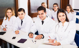 Scientists at training courses Royalty Free Stock Photography