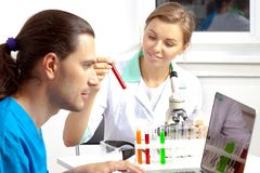 Scientists working at the laboratory Royalty Free Stock Photography