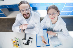 Scientists working in laboratory Stock Photos