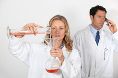 Scientists. Working on a project together stock photos