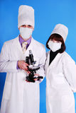Scientists working together. Royalty Free Stock Photography