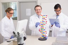 Scientists working together. In laboratory Royalty Free Stock Photos