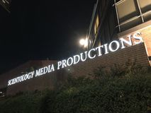 Scientology Media Productions in Los Angeles. Los Angeles, CA: March 30, 2018: Scientology Media Productions in Los Angeles. Scientology is a religion that was Royalty Free Stock Photography