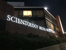 Scientology Media Productions in Los Angeles. Los Angeles, CA: March 30, 2018: Scientology Media Productions in Los Angeles. Scientology is a religion that was Stock Photography