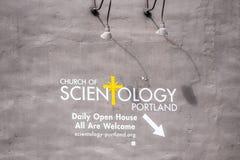 Scientologyfahne auf der Wand lizenzfreies stockfoto