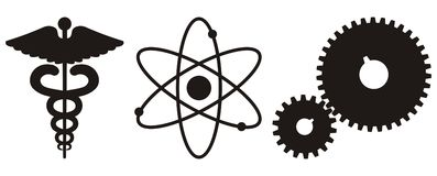 Scienza & icona di tecnologia Immagine Stock