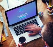 Scienza Atom Energy Concept di studio di fisica Immagine Stock