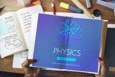 Scienza Atom Energy Concept di studio di fisica Immagini Stock