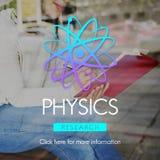 Scienza Atom Energy Concept di studio di fisica Fotografie Stock Libere da Diritti