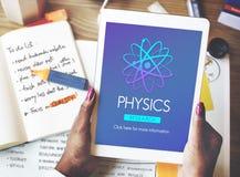 Scienza Atom Energy Concept di studio di fisica Immagini Stock Libere da Diritti