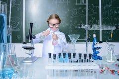 Scienza d'istruzione di chimica Fotografia Stock Libera da Diritti