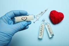 Scienza dell'ormone di amore Concetto di biochimica immagini stock libere da diritti