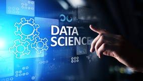 Scienza di dati ed in profondità imparare Intelligenza artificiale, analisi Internet e concetto moderno di tecnologia fotografie stock