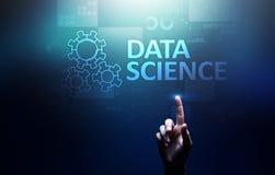 Scienza di dati ed in profondit? imparare Intelligenza artificiale, analisi Internet e concetto moderno di tecnologia fotografia stock libera da diritti