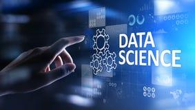 Scienza di dati ed in profondit? imparare Intelligenza artificiale, analisi Internet e concetto moderno di tecnologia fotografie stock libere da diritti