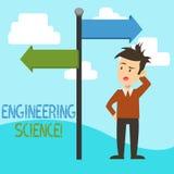 Scienza di ingegneria del testo della scrittura Affare di significato di concetto con la base fisica e matematica di organizzazio royalty illustrazione gratis
