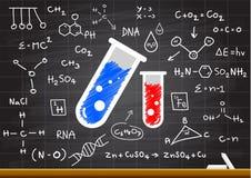 Scienza disegnata a mano sulla lavagna Fotografia Stock Libera da Diritti