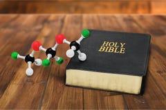 Scienza e religione fotografie stock