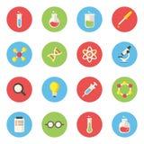 Scienza ed icona dei laboratori Immagine Stock