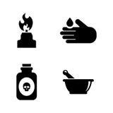 scienza Icone relative semplici di vettore royalty illustrazione gratis