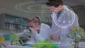 Scienziati che conducono ricerca in un laboratorio archivi video