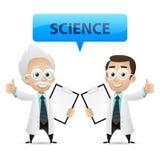 Scienziati che mostrano pollice su illustrazione vettoriale