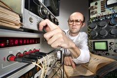 Scienziato al laboratorio dell'annata Fotografia Stock
