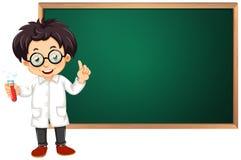 Scienziato in aula illustrazione vettoriale