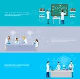 Scienziato Banner Set Fotografia Stock