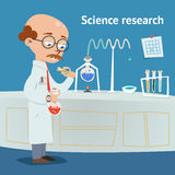Scienziato che effettua ricerca in un laboratorio illustrazione di stock