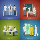 Scienziato Concept Icons Set Fotografia Stock