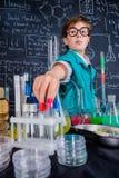 Scienziato curioso del ragazzo Immagine Stock Libera da Diritti
