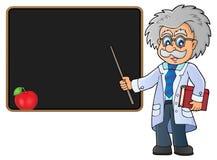 Scienziato dall'immagine 2 di tema della lavagna illustrazione vettoriale