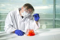Scienziato di chimica Fotografia Stock